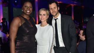 Leslie Jones, Kristen Wiig, and Avi Rothman attend the American Museum of Natural History's 2016 Museum Gala at American Museum of Natural History on November 17, 2016 in New York City