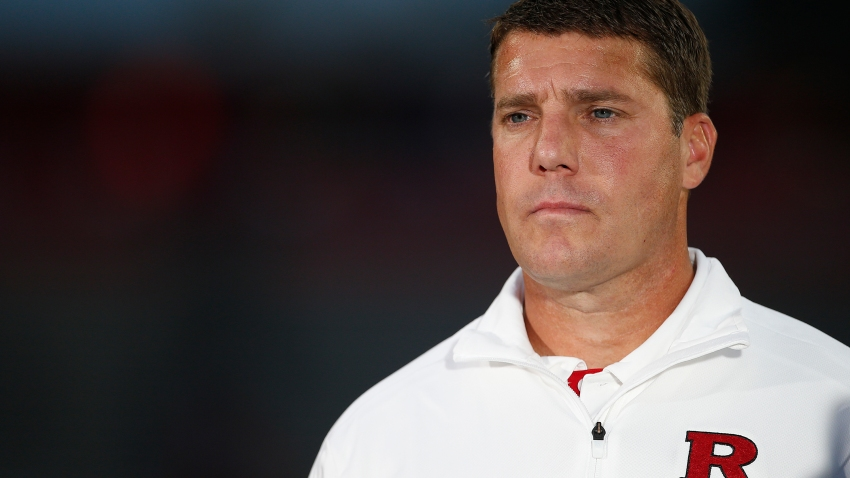 Head coach Chris Ash of the Rutgers Scarlet Knights l