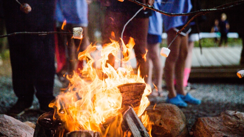 A file photo of a campfire.