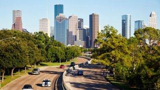 Houston city skyline, Houston, Texas.