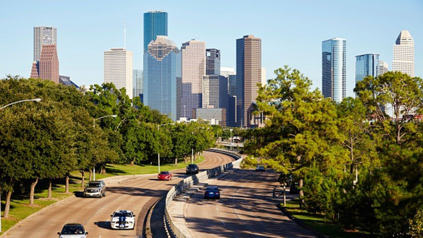 Houston city skyline, Houston, Texas.