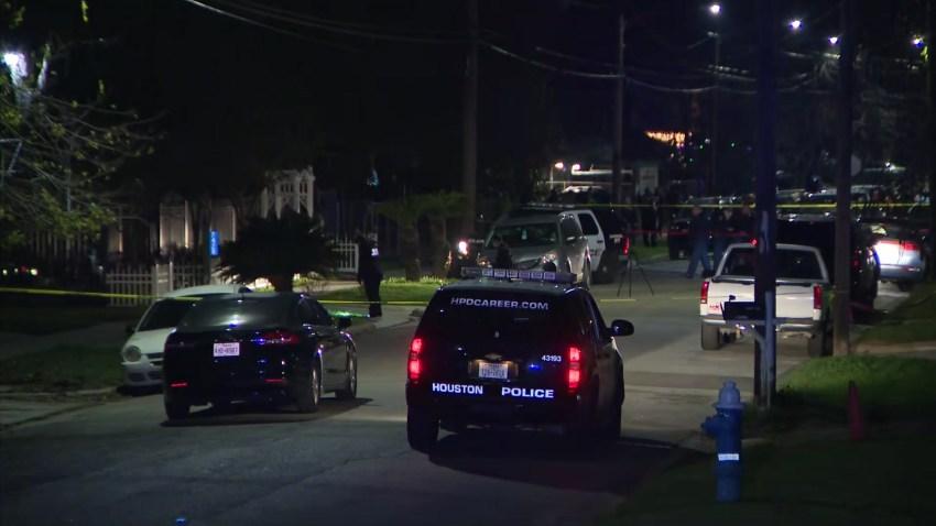 Houston officer shot scene