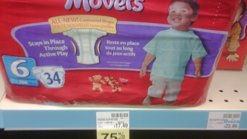 Huggies 75 percent off