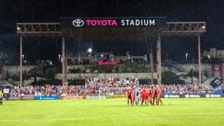 Fans cheer on FC Dallas at Toyota Stadium