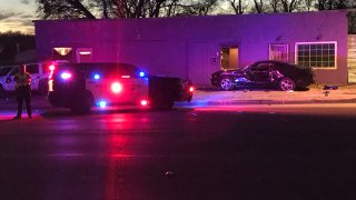 One person was killed and another was injured Friday, Feb. 21, 2020, in a crash involving a vehicle in the 2300 block of South Riverside Drive.