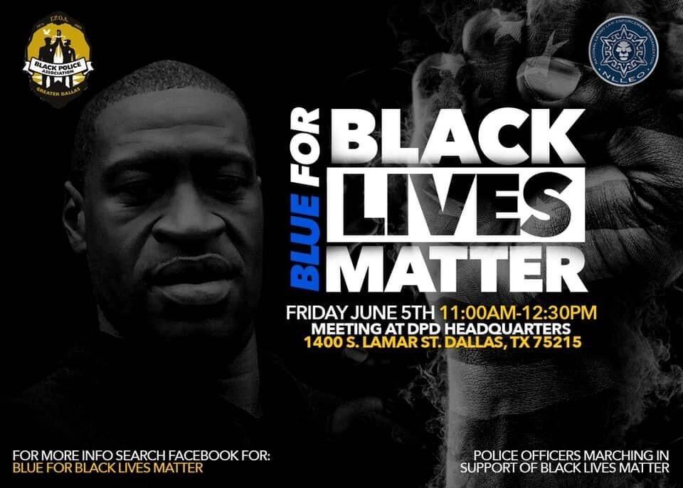 Dallas Police Officers Plan March to Fight Systemic Racism, Show Support for Community