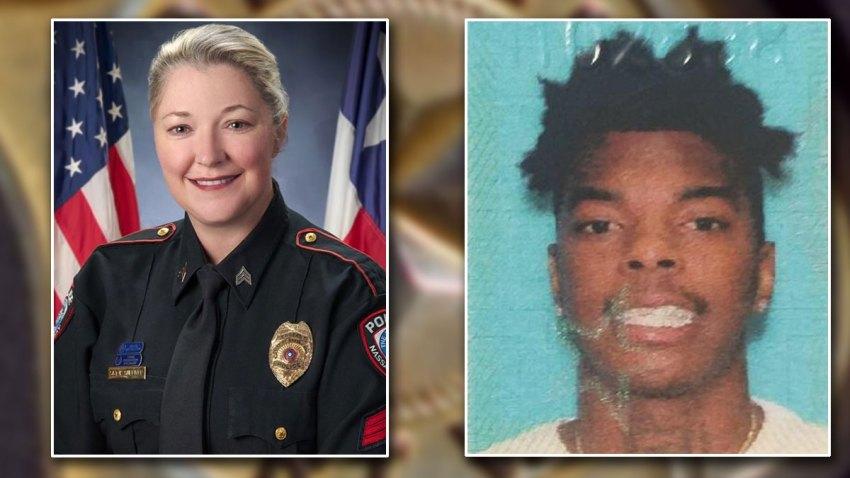 Sgt. Kaila Sullivan and Tavores Henderson