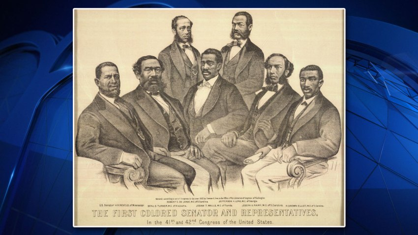 The First Colored Senator and Representatives in the 41st and 42nd Congress of the United States, 1872.