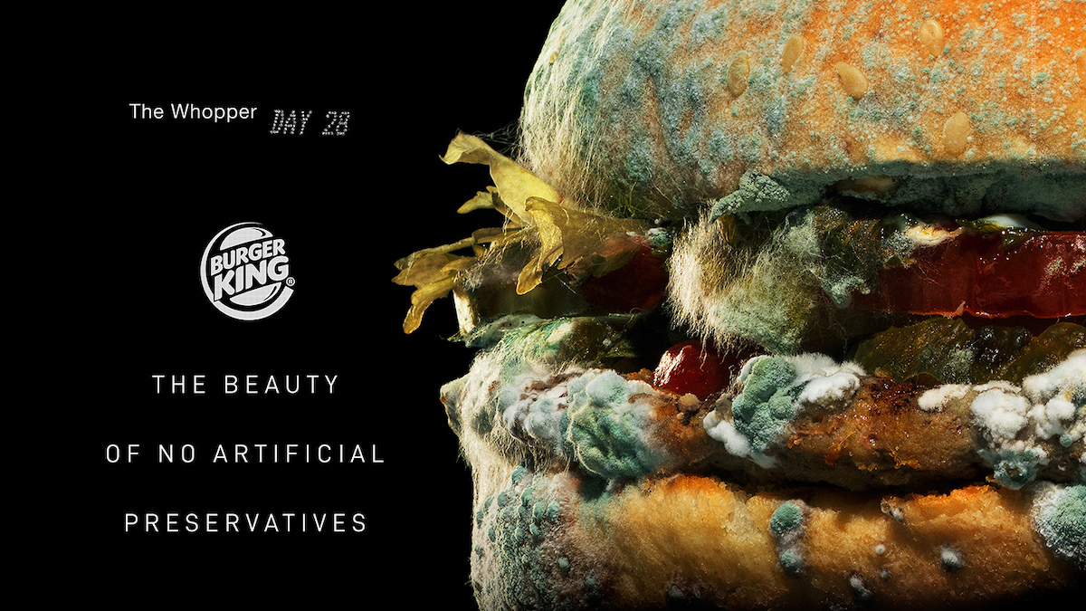 Burger King Launches Moldy Whopper Ad to Highlight 'the Beauty of No Artificial Preservatives'