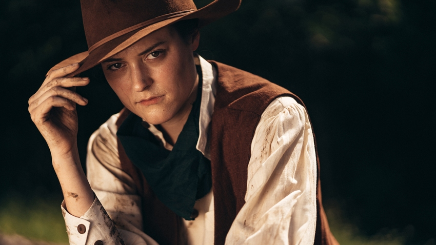 Laura Lyman Payne in THE BALLAD OF LITTLE JO at WaterTower Theatre. Photo by Evan Michael Woods3