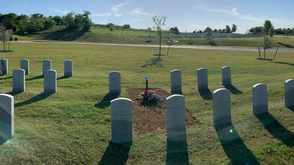 Marlin Shackleford was buried at DFW National Cemetery, but family members had to watch from their cars due to COVID-19.