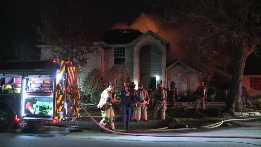 No Injuries in Large House Fire in Arlington