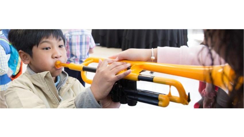 boy with trumpet