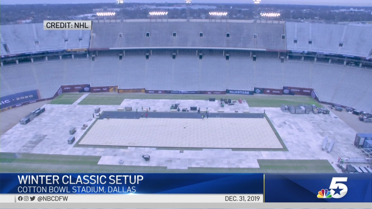 Nhl Winter Classic Cotton Bowl Stadium Timelapse Nbc 5