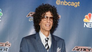 """In this undated file photo, Howard Stern arrives for a live show of """"America's Got Talent."""""""