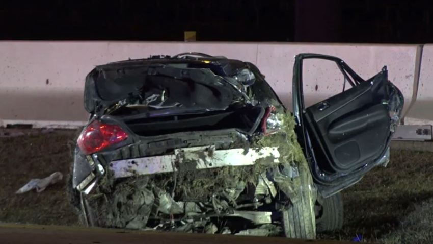 Texas Department of Public Safety troopers were called about 3:40 a.m. to the single-vehicle crash of a 2009 Infiniti on the turnpike, near Gateway Drive, in Irving.