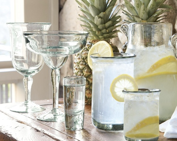 Pottery Barn Recycled Glassware