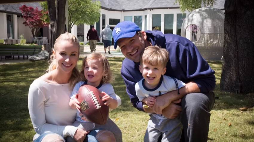 Tony and Candice Romo with their children