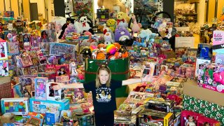 The North Texas cancer survivor donated toys for children battling cancer in the hospital this Christmas.