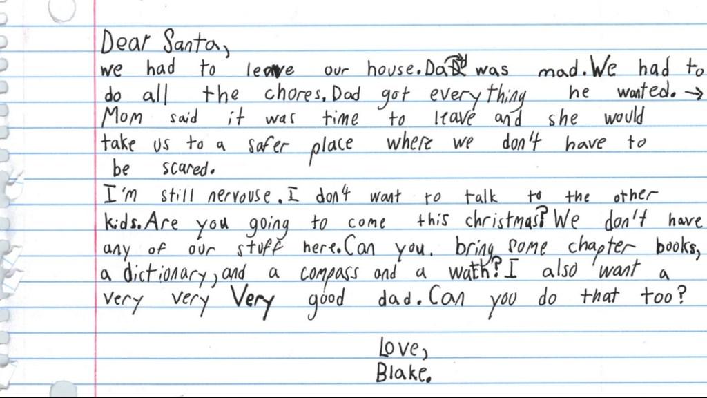 Little Boy Pens Letter to Santa