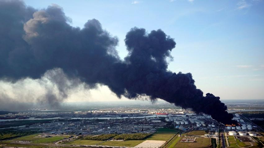 Petrochemical Fire Texas San Jacinto