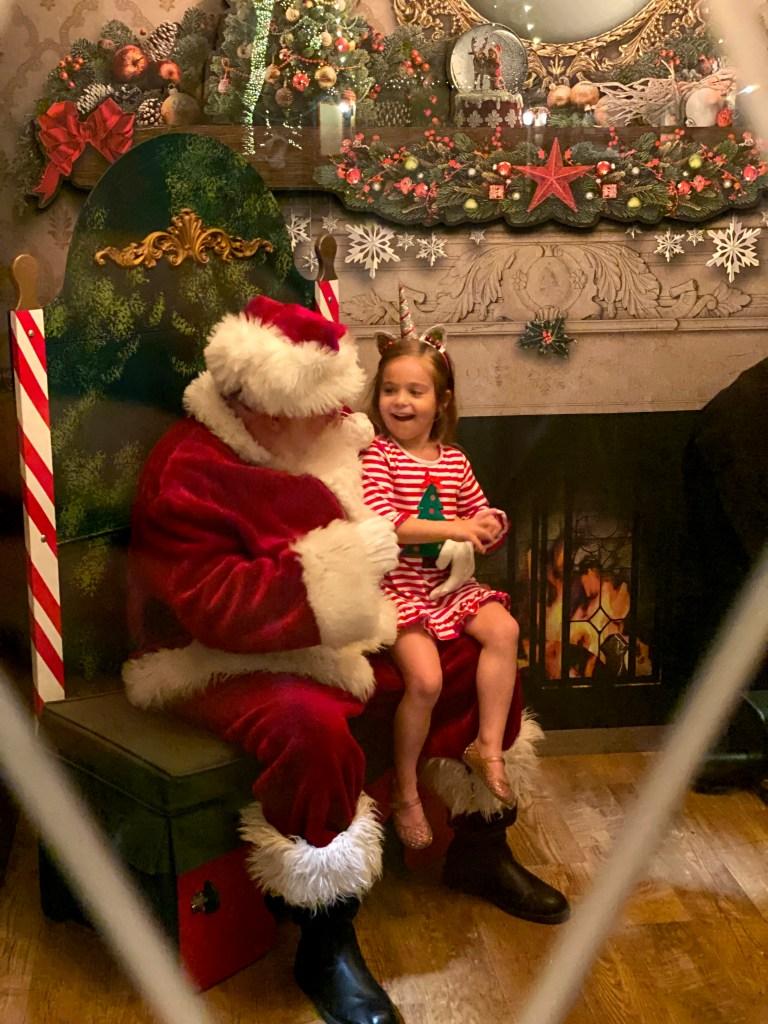 Santa at the Dallas Arboretum