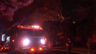 A couple escaped a house fire early Saturday in the 6200 block of Southern Knoll Drive.