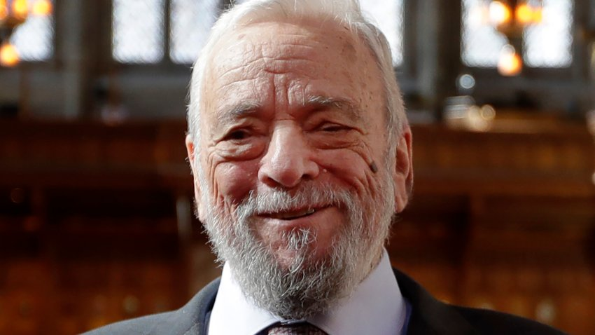This Sept. 27, 2018, file photo, shows composer and lyricist Stephen Sondheim after being awarded the Freedom of the City of London at a ceremony at the Guildhall in London.