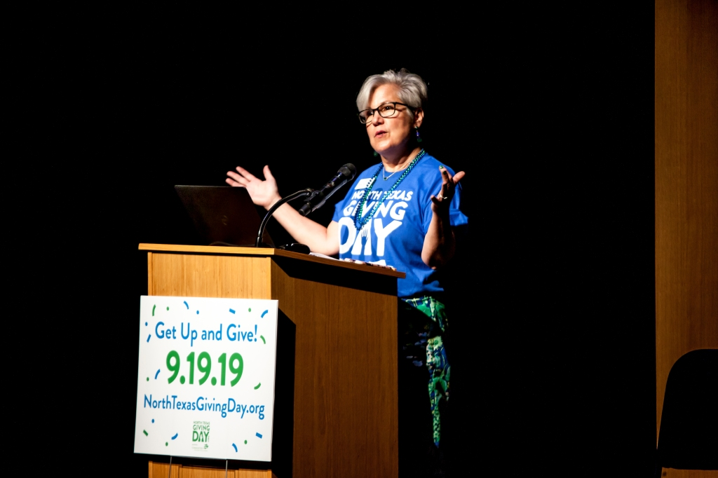 Susan Swan Smith at North Texas Giving Day 2019