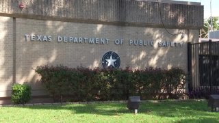 Texas Department of Public Safety sign or DPS