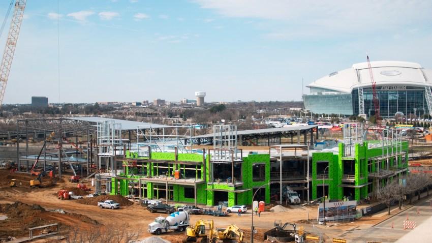 Texas Live! Construction Progress