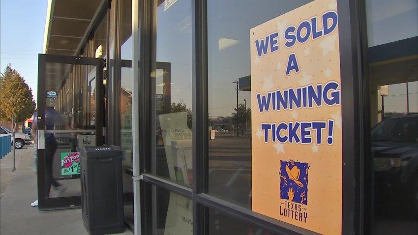 Texas Lottery winning sign