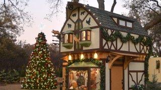 The Dallas Arboretum debuts its Pauline and Austin Neuhoff Family Christmas Village.