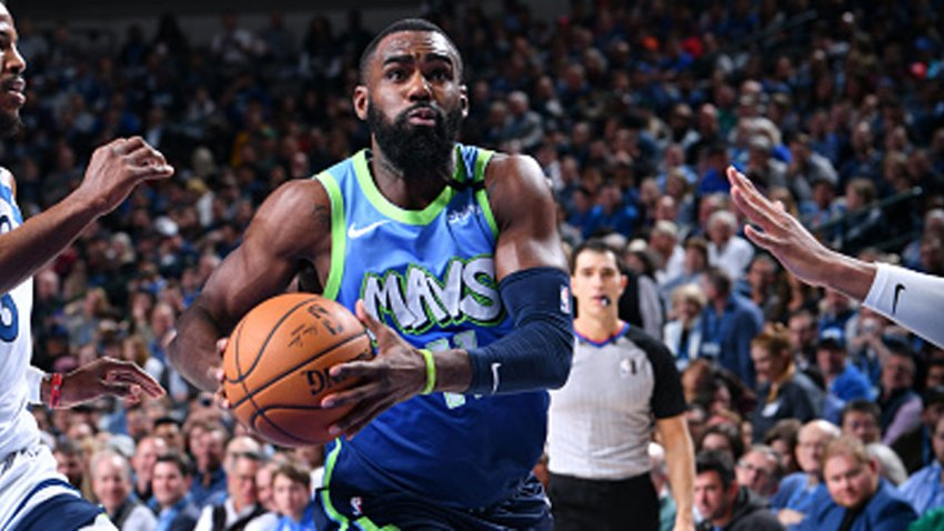 Tim Hardaway Jr. #11 of the Dallas Mavericks handles the ball against the Minnesota Timberwolves on Feb. 24, 2020 at the American Airlines Center in Dallas, Texas.