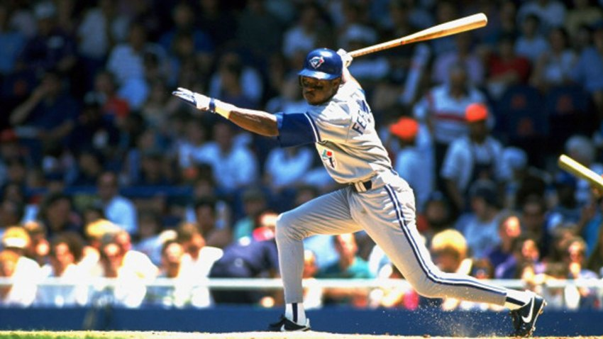 Toronto Blue Jays Tony Fernandez (1) in action, at bat vs Detroit Tigers at Tiger Stadium.