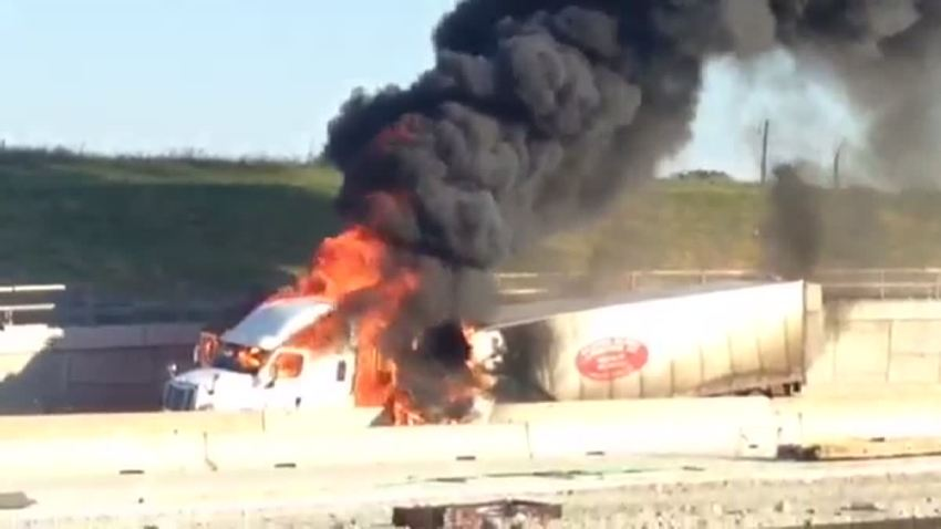 US 75 Fiery Crash 081414