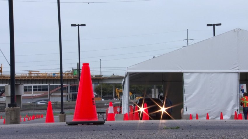 Dallas County opened a drive-thru testing site Saturday at the American Airlines Center — the first of two to coronavirus testing sites scheduled to open this weekend.
