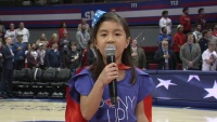 7-Year-Old Stuns SMU Crowd With National Anthem Performance