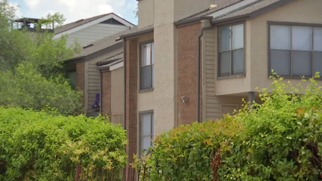 A Dallas apartment complex where the vouchers might be used.