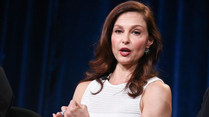 """In this Jan. 20, 2015, file photo, Ashley Judd speaks on stage during the Independent Lens """"A Path Appears"""" panel at the PBS 2015 Winter TCA in Pasadena, California."""