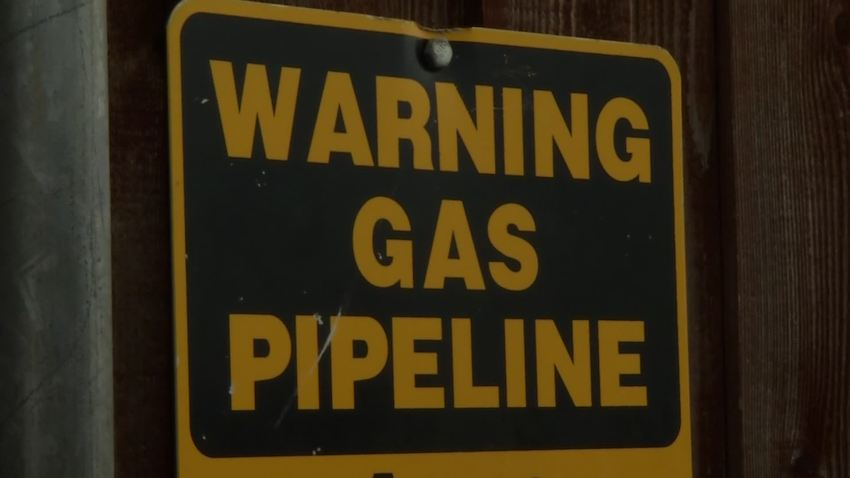 atmos safe dig - warning gas pipeline sign