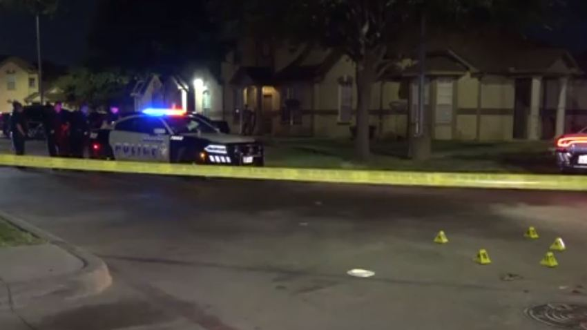 Officers responded around 11:!5 p.m. to the 3000 block of Bickers Street where the teenager had been shot in the leg while she was standing outside.