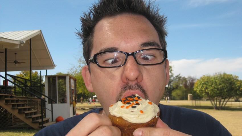 cupcake generic man eating