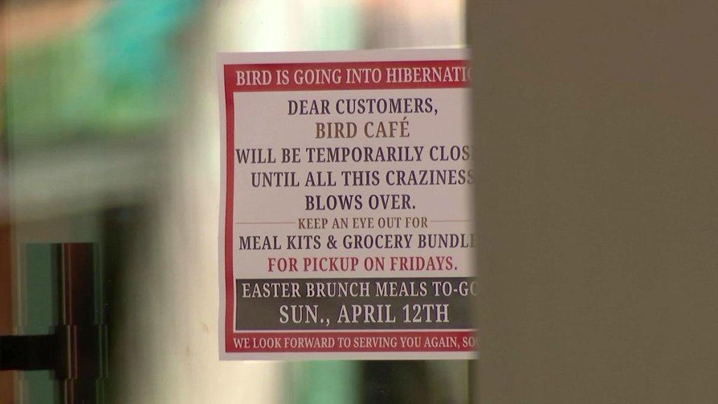 bird cafe sign
