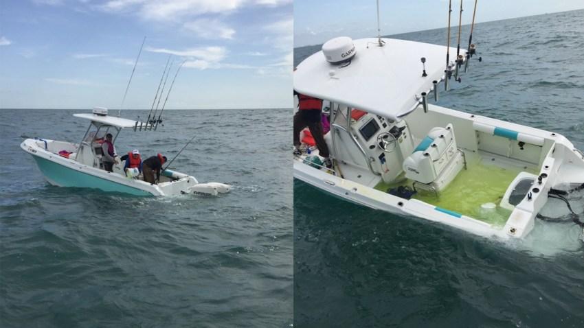 boat capsizes gulf coast sinks