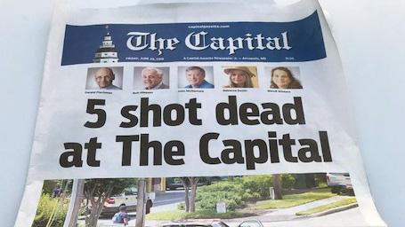capital gazette front page