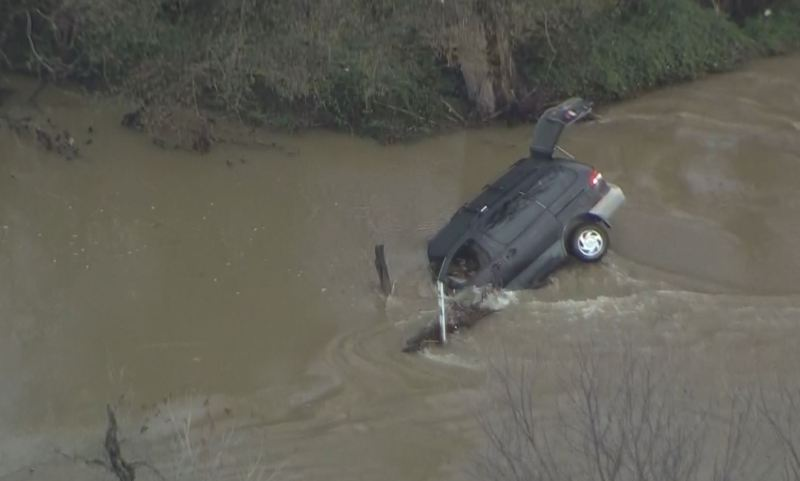 Gallery: Woman Rescued After Roads Flood in Johnson County