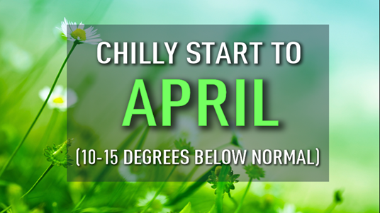 chilly start to april