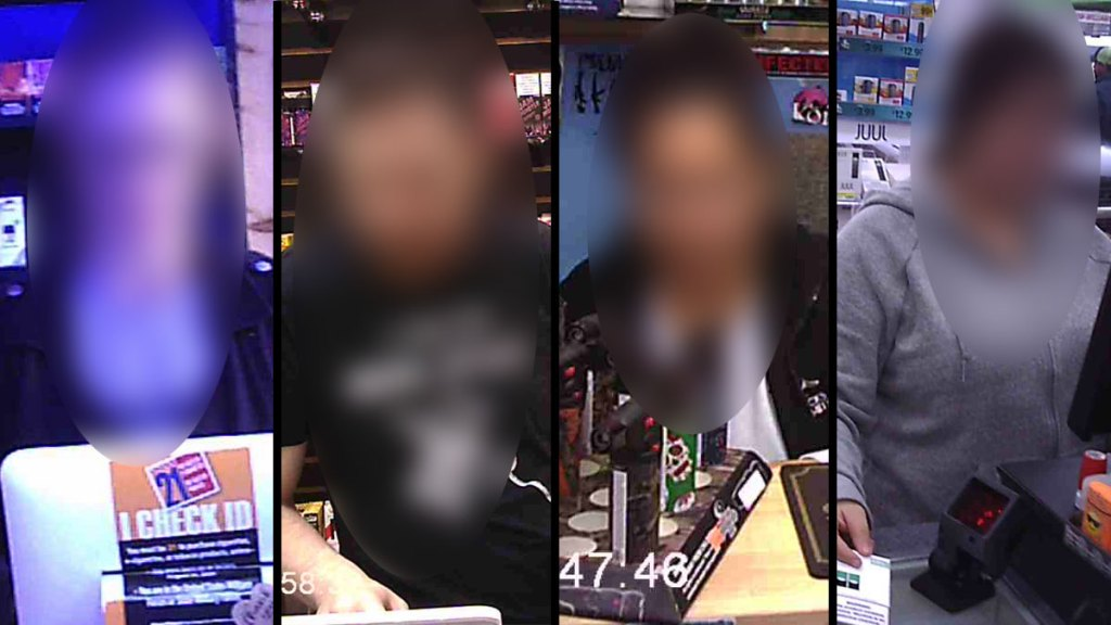 blurred photos of clerks