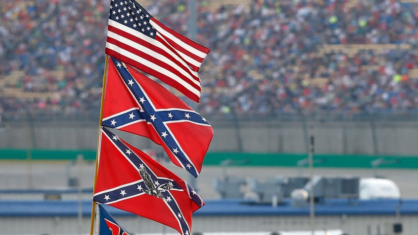 confederate flag at nascar race